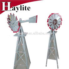 Vertical mini metal garden decorative windmill